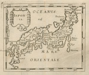 Antique map of Japan by Pierre Duval