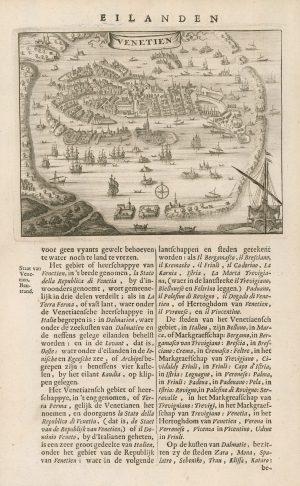Detailed birds-eye view of Venice